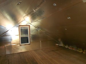 A Alpharetta attic with SuperAttic installed.