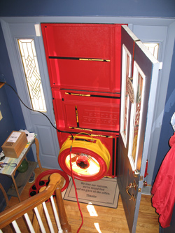 Blower door test for Duluth homes